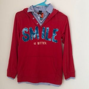 NWT Desigual Hooded L/S shirt with collar